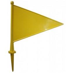 Plastikāta karodziņš ( dzeltens ) izmērs: 29 x 22 cm