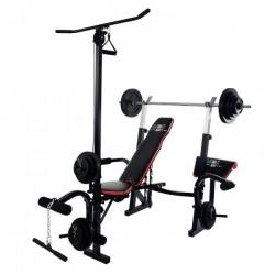 CHRISTOPEIT SPORT fitnesa stacija  Weight Bench Power XL ( pievilkšanās stienis - Latissimus slodze 50 kg.)