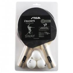 STIGA galda tenisa Komplekts SWAY (2 raketes + 3 bumbiņas)