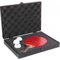 STIGA Alu Batcase ietvars galda tenisa raketei, melns/sarkans