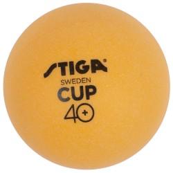 STIGA Galda tenisa bumbiņas CUP ABS 40+ dzeltenas, 6gb.iep.
