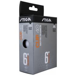 STIGA Galda tenisa bumbiņas CUP ABS 40+ baltas, 6gb.iep.