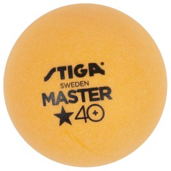 STIGA Galda tenisa bumbiņas MASTER ABS 40+ 1* dzeltenas, 6gb.iep.