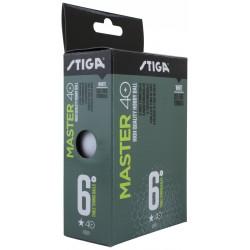 STIGA Galda tenisa bumbiņas MASTER ABS 40+ 1* baltas, 6gb.iep.
