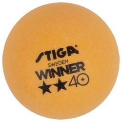STIGA Galda tenisa bumbiņas WINNER ABS 40+ 2* dzeltenas, 6gb.iep.