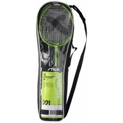 STIGA Badmintona komplekts Garden GS (2 Pieaugušo raketes + 2 volāni + čehols + tīkls ar stabiem)