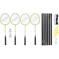 STIGA Badmintona komplekts Weekend WS (4 Pieaugušo raketes + 2 volāni + čehols + tīkls ar stabiem)