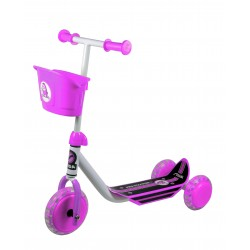 STIGA Bērnu 3 riteņu skūteris balts/rozā