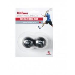 WILSON skvoša bumbiņas STAFF Iepakojumā 2 gb. - red dot