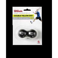 WILSON skvoša bumbiņas STAFF Iepakojumā 2 gb. - double yellow dot